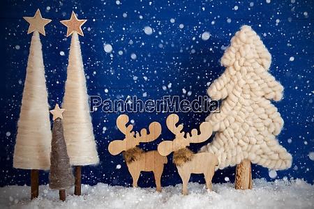 christmas tree snow moose copy space