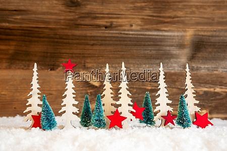 christmas tree snow red star copy