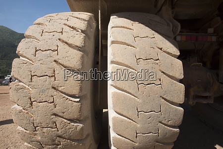 big tires of commercial vehicles