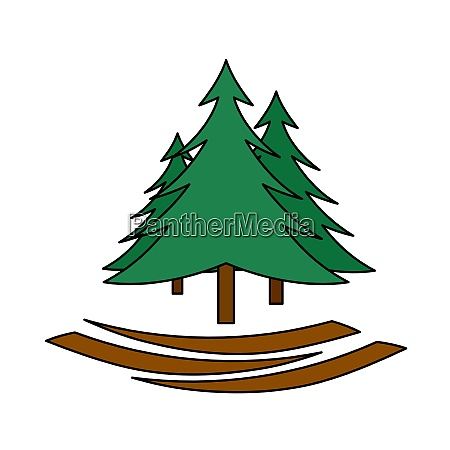 icon of fir forest