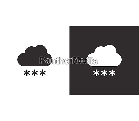 cloud and snow isolated icon on