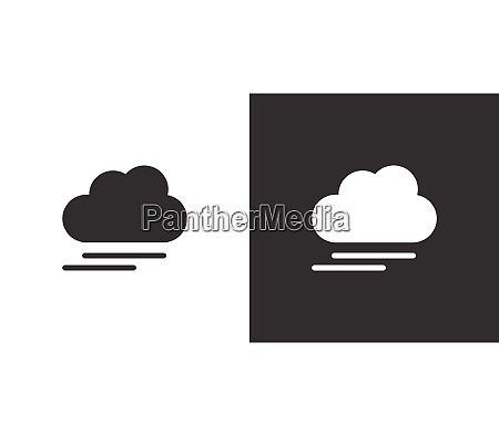 fog and cloud isolated icon on