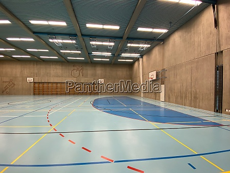 interior of empty modern gymnasium