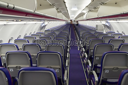 plane cabin interior with no people