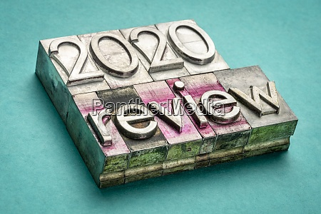 2020 year review word abstract in