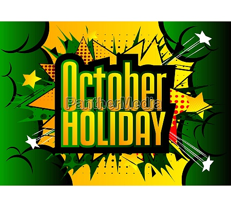 comic book halloween holiday presentation template