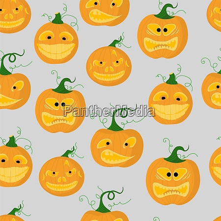 halloween bright background seamless pattern for