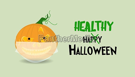 halloween poster or greeting card horizontal