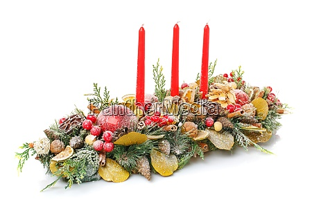 new year and christmas winter decoration