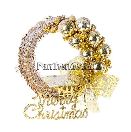 decorative christmas wreath on the door
