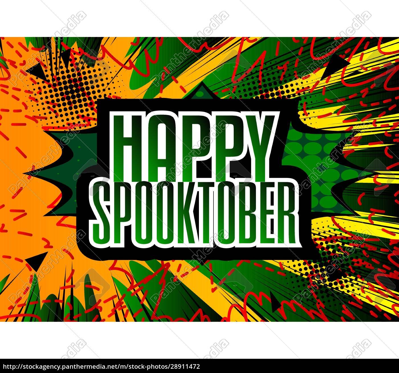 comic, book, halloween, holiday, presentation, template. - 28911472