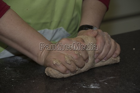 brown bread or wheat bread dough