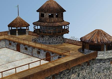 3d rendering fairytale castle