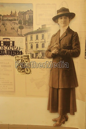 vintage photo of woman standing in