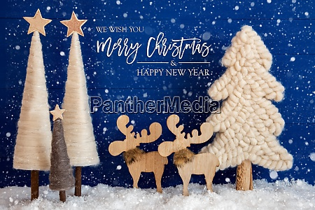 christmas tree moose snow merry christmas