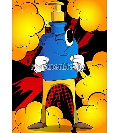 bottle of hand sanitizer gel ready