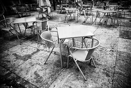 chairs on a terrace