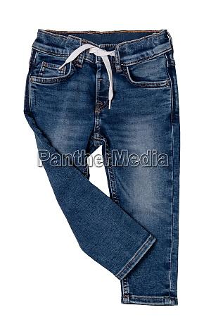 jeans isolated trendy stylish blue denim