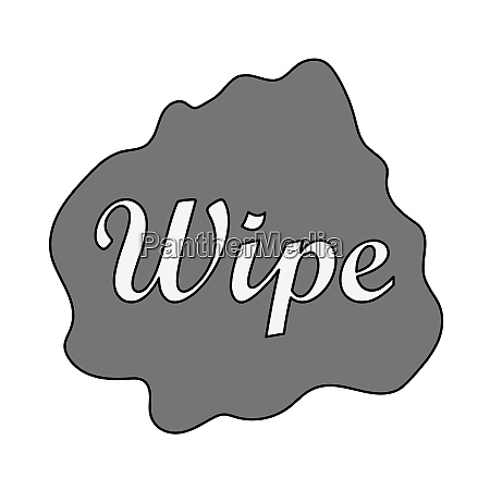 wipe cloth icon