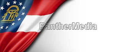 georgia flag on white wall banner