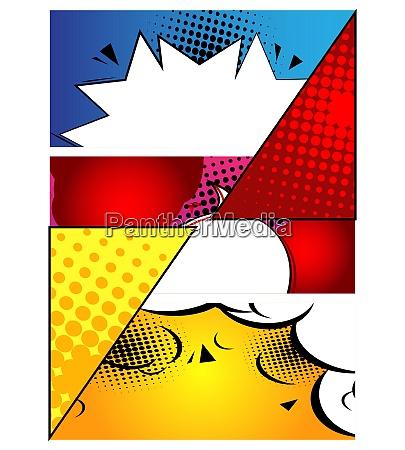 comic book design background cartoon illustration