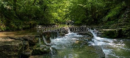 picturesque river in the schlichemklamm gorge