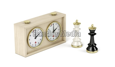chess king pieces and analog chess
