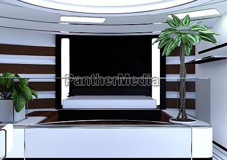 3d rendering science fiction apartment
