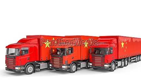 cargo truck with chinese flag