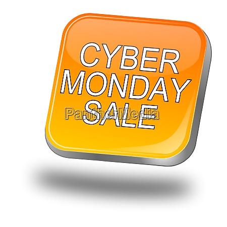 orange cyber monday sale button