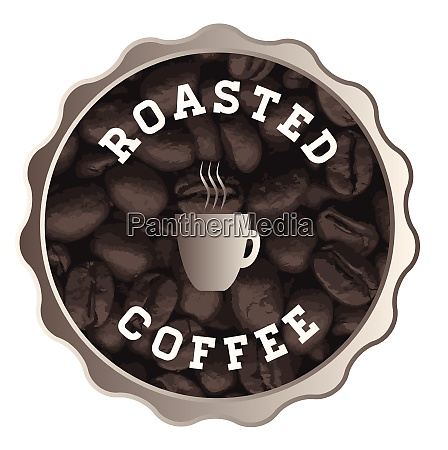 roasted coffee sign