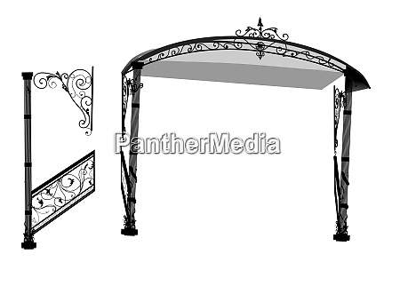 sketch of forged metal elements with