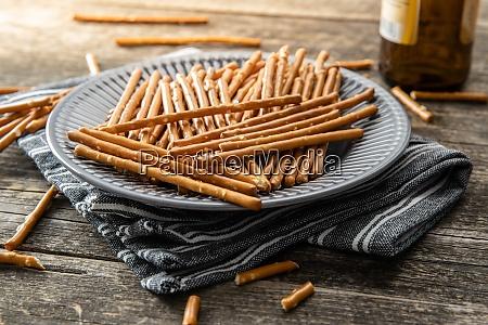 salty sticks crunchy pretzels
