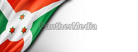 burundian flag isolated on white banner