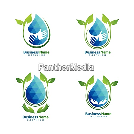 water drop oil gas natural green