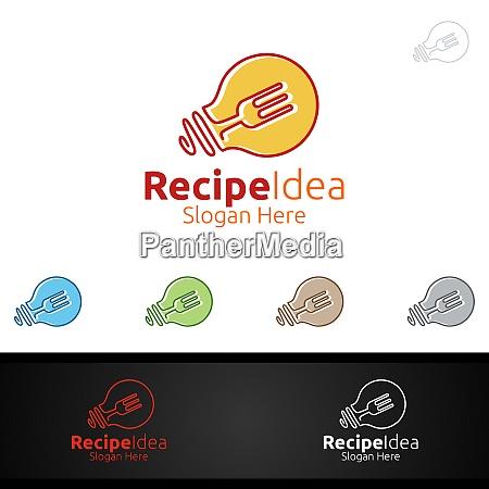 recipe food logo for restaurant or