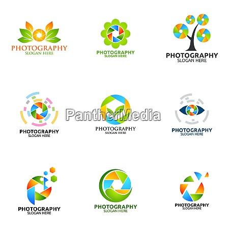 camera photography vector logo design template