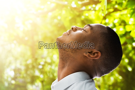 breath clean air relax in nature