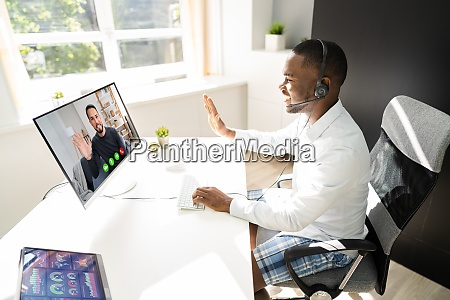 attending video conference call