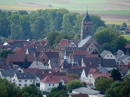 old castle in german