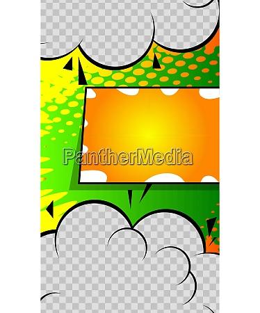 comic book style editable social media
