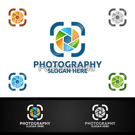 abstract camera photography logo