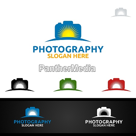 sunrise camera photography logo