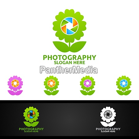 flower camera photography logo