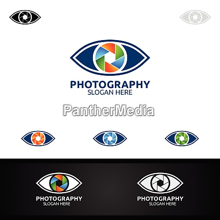 eye camera photography logo icon vector