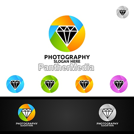 diamond camera photography logo