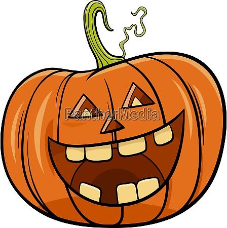halloween pumpkin character cartoon illustration