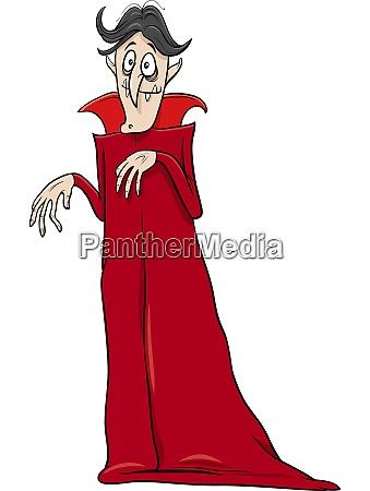 vampire halloween character cartoon illustration