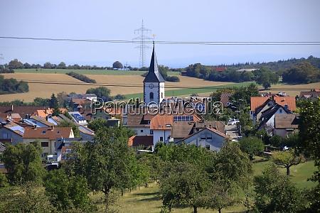view of the city of wiernsheim