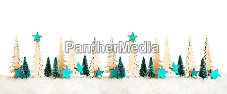 christmas tree banner turquoise star decoration